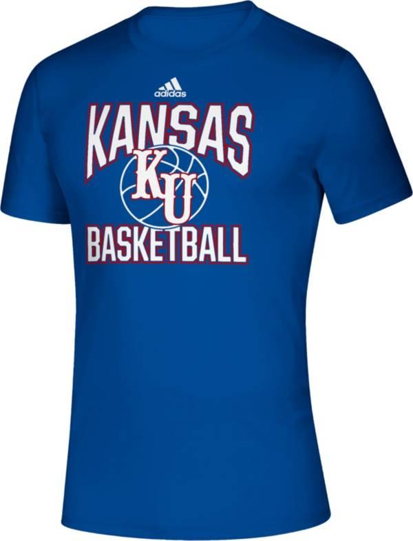 adidas Men's Kansas Jayhawks Blue Classics Basketball T-Shirt product image