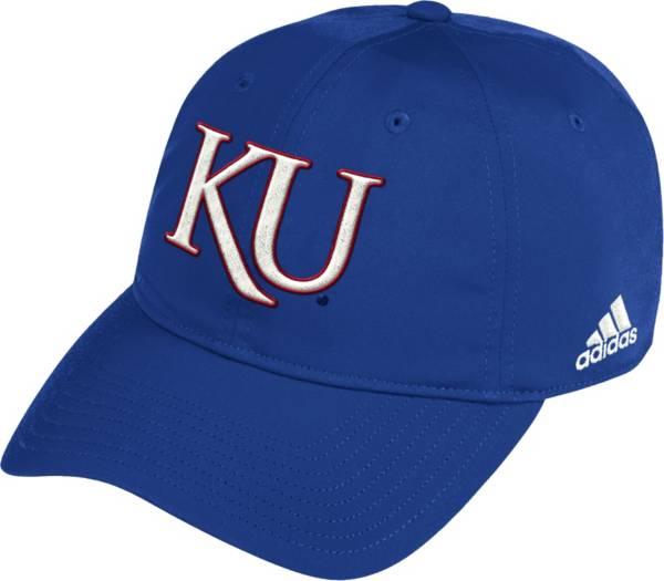 adidas Men's Kansas Jayhawks Blue Coach Slouch Sideline Hat product image