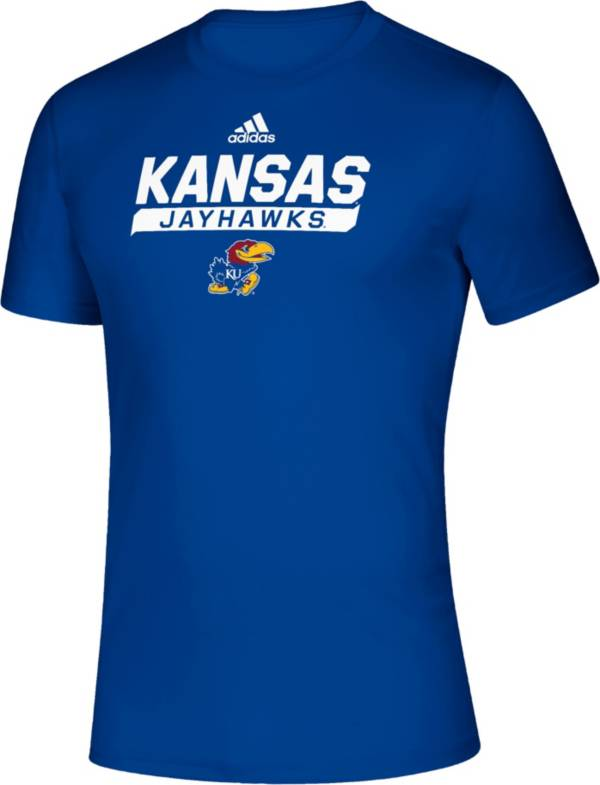 adidas Men's Kansas Jayhawks Blue Tail Sweep Performance T-Shirt product image