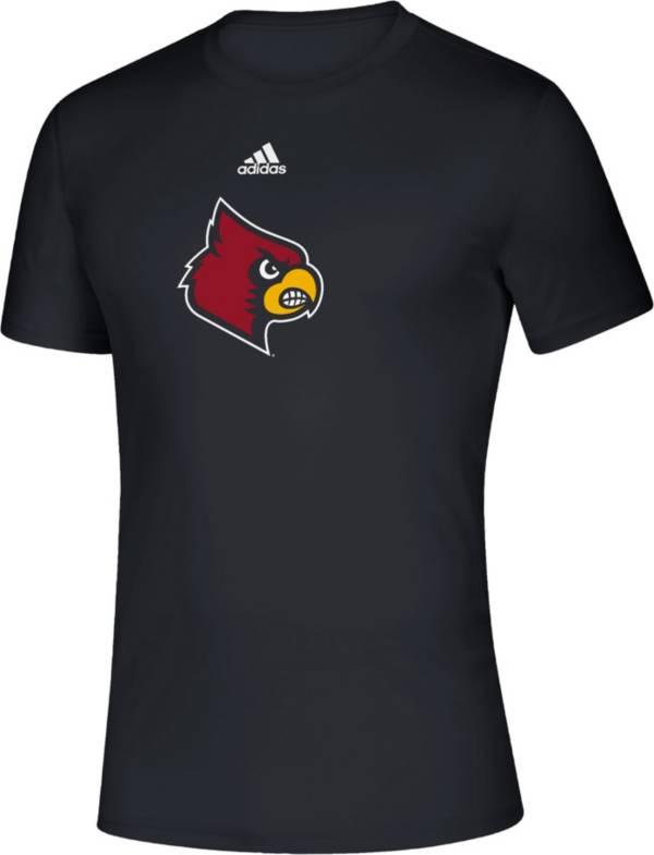adidas Men's Louisville Cardinals Locker Room Logo Creator Black T-Shirt product image