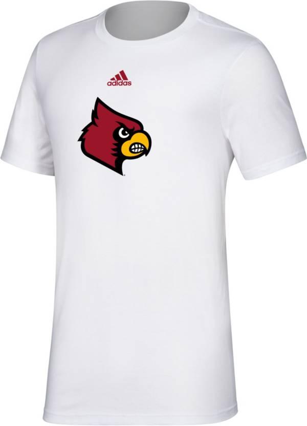 adidas Men's Louisville Cardinals Cardinal Red Big Logo Amplifier T-Shirt product image