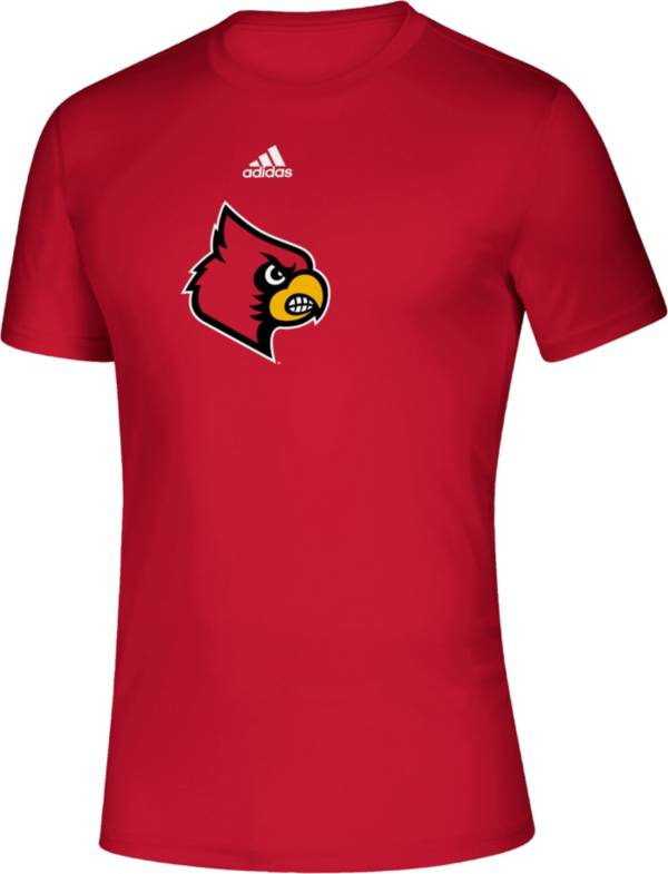adidas Men's Louisville Cardinals Cardinal Red Locker Room Logo Creator T-Shirt product image