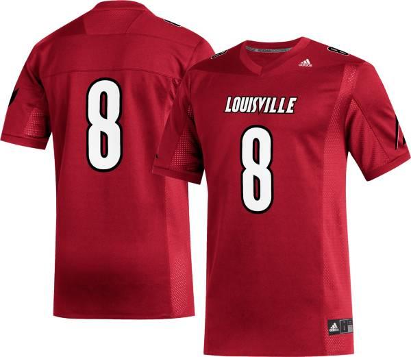 adidas Men's Louisville Cardinals #8 Cardinal Replica Football Jersey product image