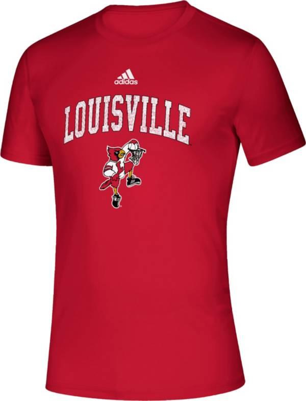 adidas Men's Louisville Cardinals Cardinal Red Retro Creator T-Shirt product image