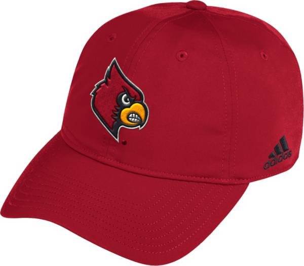 adidas Men's Louisville Cardinals Cardinal Red Coach Slouch Sideline Hat product image