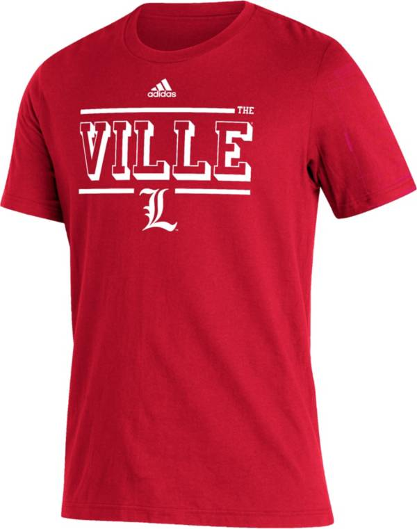 adidas Men's Louisville Cardinals Cardinal Strategy Amplifier T-Shirt product image