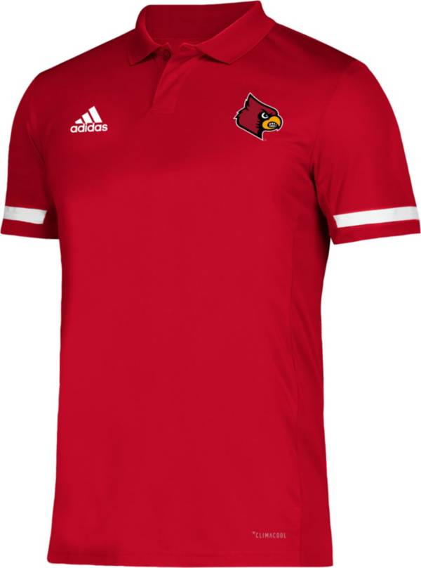 adidas Men's Louisville Cardinals Cardinal Red Team 19 Sideline Football Polo product image
