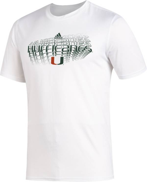 adidas Men's Miami Hurricanes Creator White T-Shirt product image