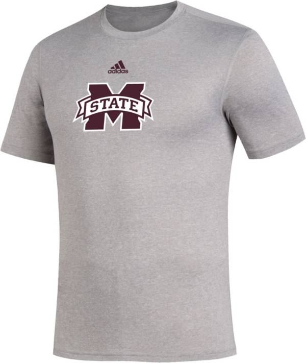 adidas Men's Mississippi State Bulldogs Grey Locker Room Logo Creator T-Shirt product image