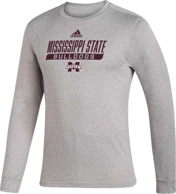 adidas Men's Mississippi State Bulldogs Grey Creator Performance Long Sleeve T-Shirt product image
