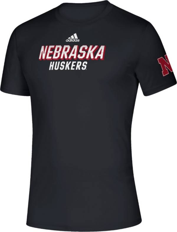 adidas Men's Nebraska Cornhuskers Creator Black Performance T-Shirt product image