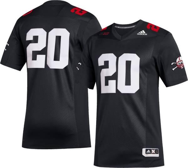 adidas Men's Nebraska Cornhuskers #20 Strategy Football Black Jersey product image
