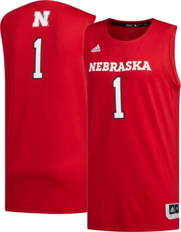 adidas Men's Nebraska Cornhuskers #1 Scarlet Creator 365 Replica Basketball Jersey product image