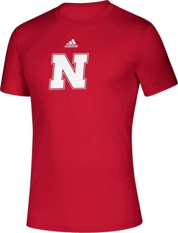 adidas Men's Nebraska Cornhuskers Scarlet Locker Room Logo Creator T-Shirt product image