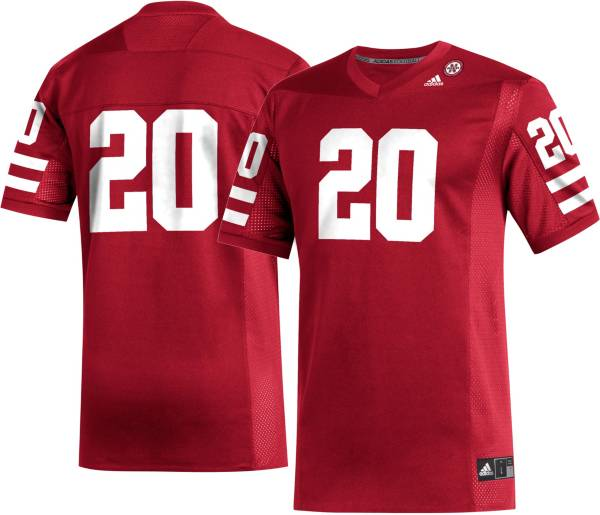 adidas Men's Nebraska Cornhuskers #20 Scarlet Replica Football Jersey product image