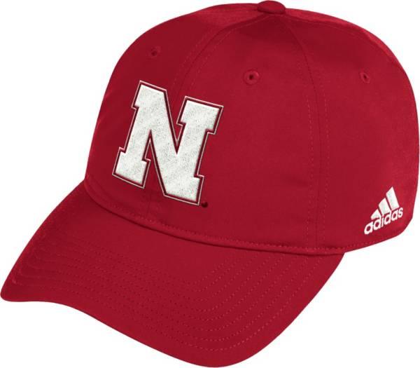 adidas Men's Nebraska Cornhuskers Scarlet Coach Slouch Sideline Hat product image