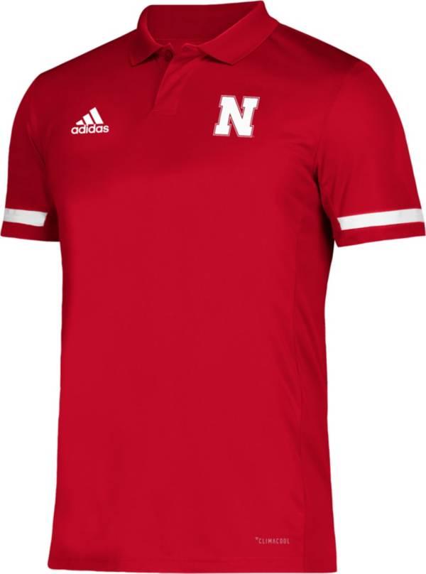adidas Men's Nebraska Cornhuskers Scarlet Team 19 Sideline Football Polo product image