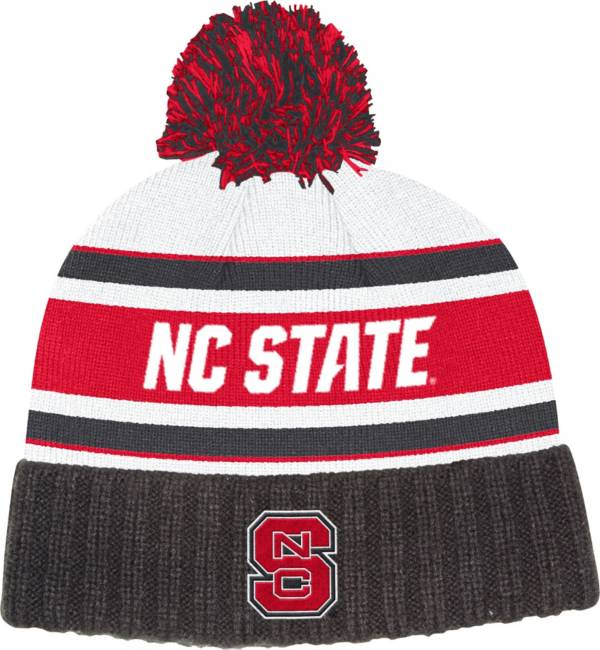 adidas Men's NC State Wolfpack Black Cuffed Pom Knit Beanie product image