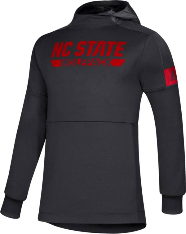 adidas Men's NC State Wolfpack Game Mode Sideline Pullover Black Hoodie product image