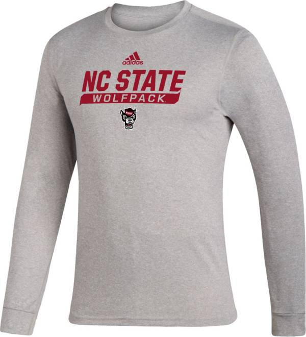 adidas Men's NC State Wolfpack Grey Creator Performance Long Sleeve T-Shirt product image