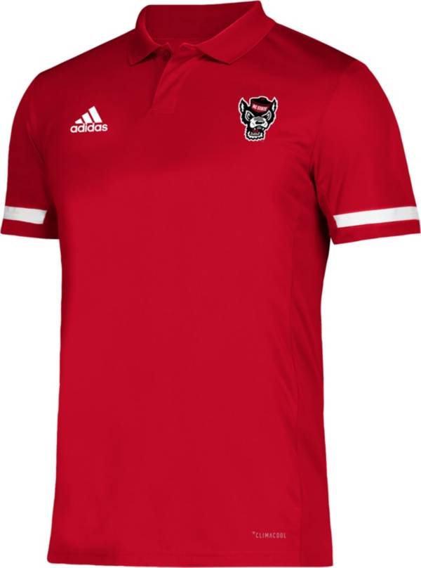 adidas Men's NC State Wolfpack Red Team 19 Sideline Football Polo product image