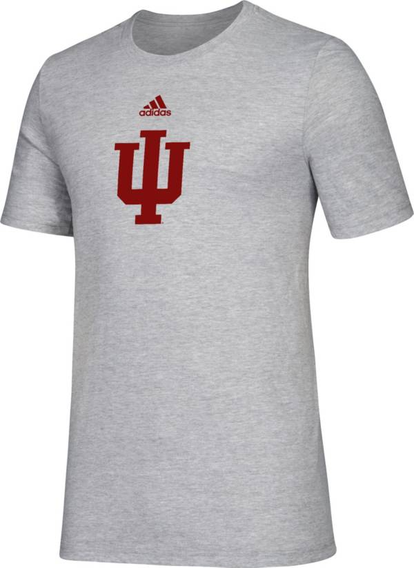 adidas Men's Indiana Hoosiers Grey Big Logo Amplifier T-Shirt product image