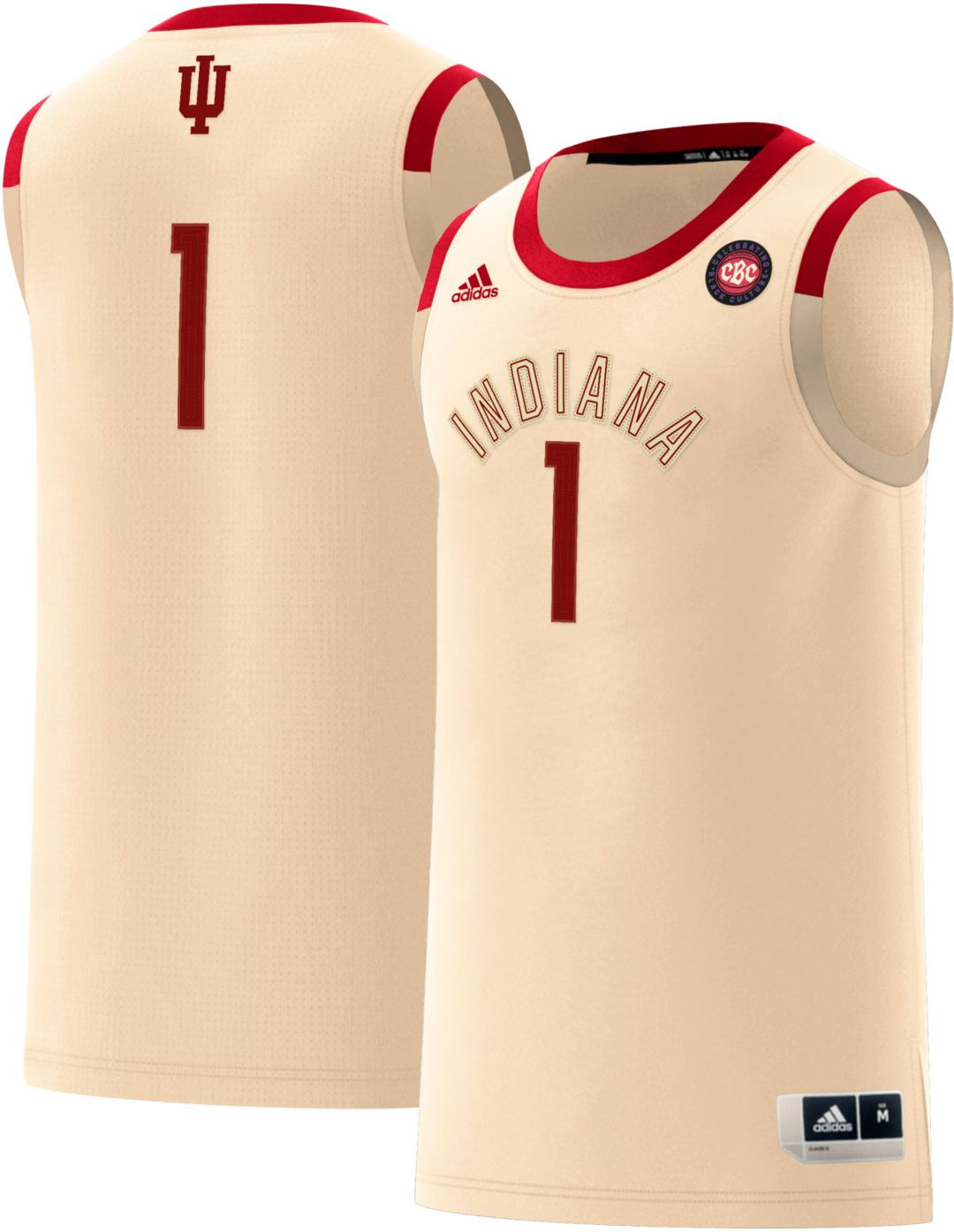 finest selection e8ccf 1165e adidas Men's Indiana Hoosiers #1 'Celebrating Black Culture' Replica  Basketball Jersey