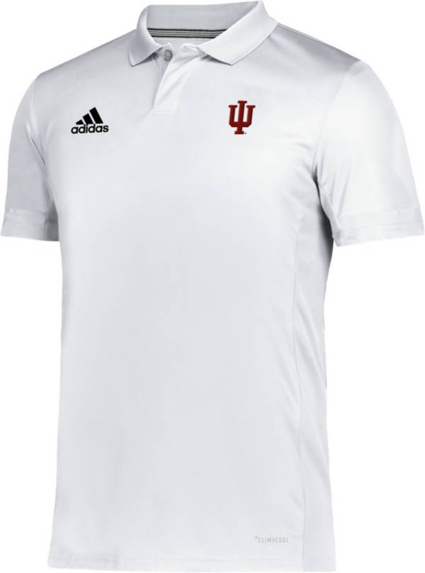 adidas Men's Indiana Hoosiers Team 19 Sideline Football White Polo product image