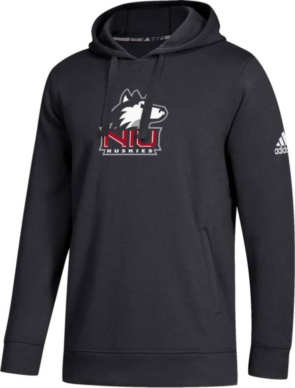 adidas Men's Northern Illinois Huskies Logo Fleece Pullover Black Hoodie product image