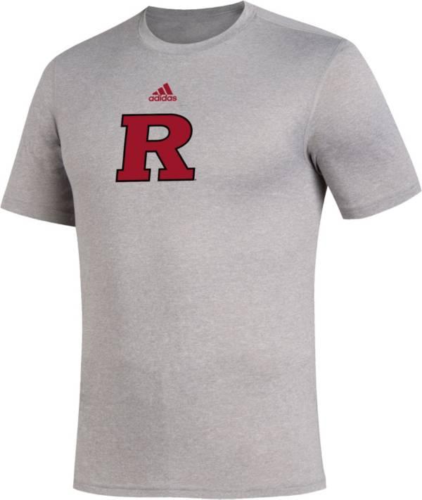 adidas Men's Rutgers Scarlet Knights Grey Locker Room Logo Creator T-Shirt product image