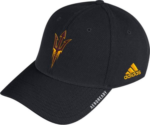 adidas Men's Arizona State Sun Devils Coach Stretch Flex Fitted Black Hat product image