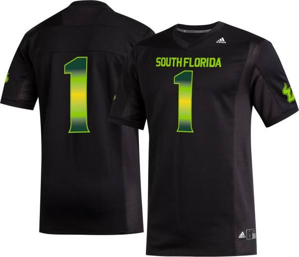 adidas Men's South Florida Bulls #1 Replica Football Black Jersey product image