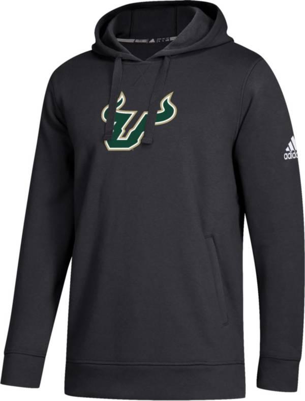 adidas Men's South Florida Bulls Logo Fleece Pullover Black Hoodie product image