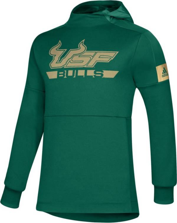 adidas Men's South Florida Bulls Green Game Mode Sideline Pullover Hoodie product image