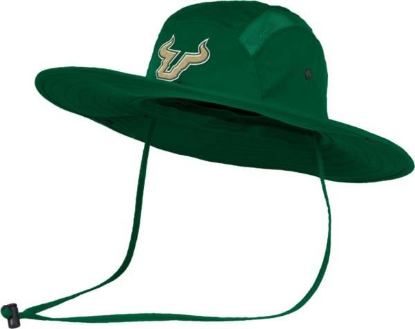 adidas Men's South Florida Bulls Green Safari Performance Hat product image