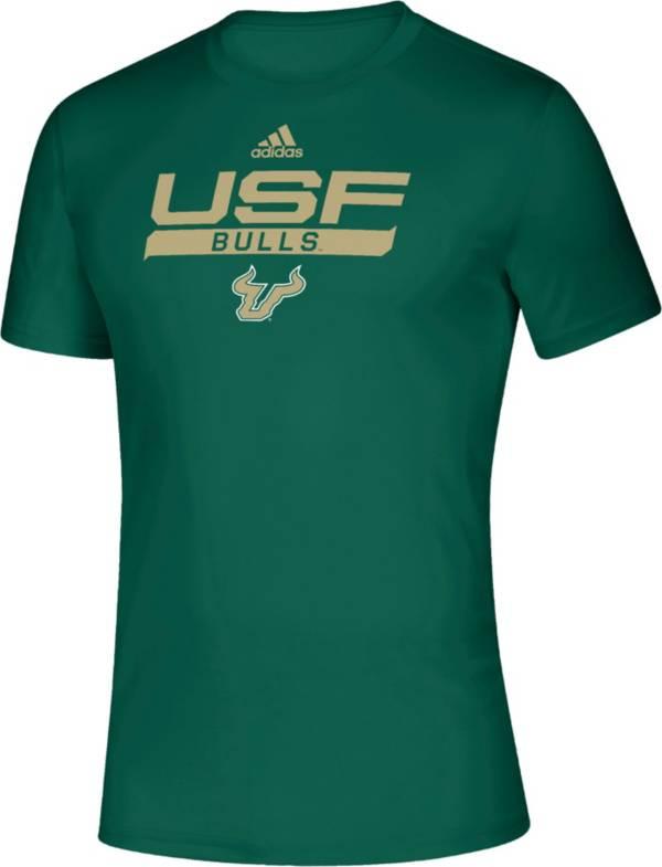 adidas Men's South Florida Bulls Green Tail Sweep Performance T-Shirt product image