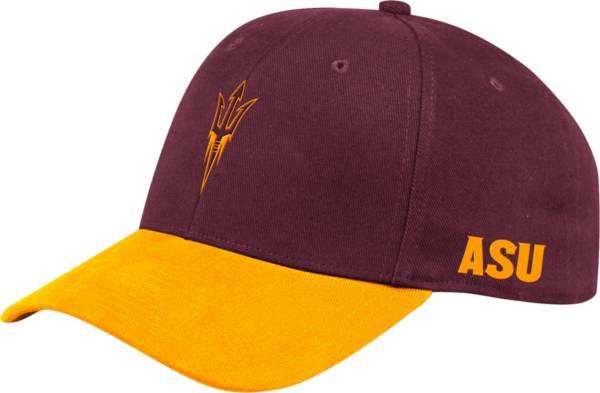 adidas Men's Arizona State Sun Devils Maroon Coach Structured Flex Sideline Hat product image
