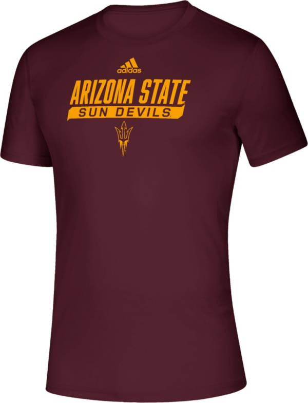 adidas Men's Arizona State Sun Devils Maroon Tail Sweep Performance T-Shirt product image