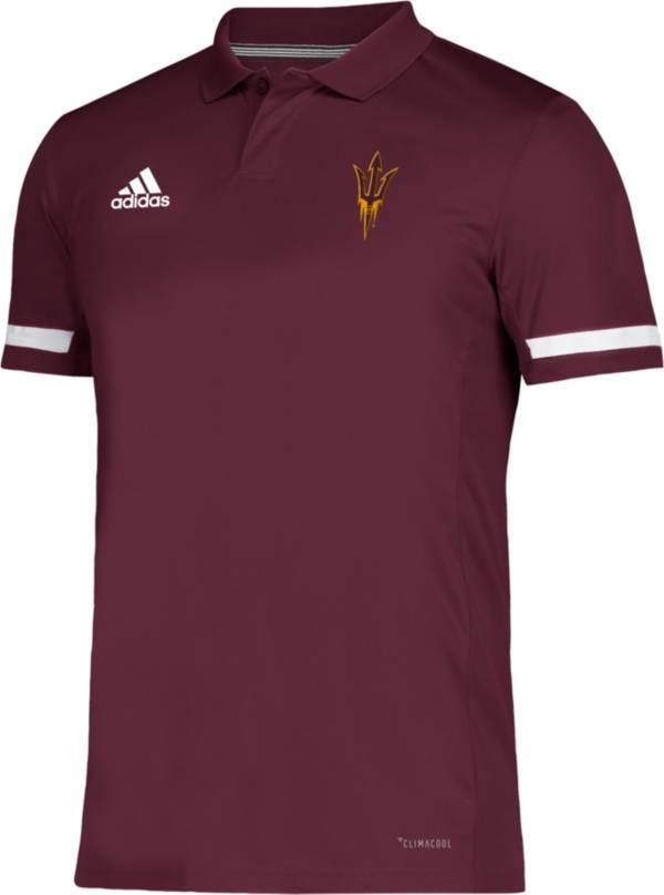 adidas Men's Arizona State Sun Devils Maroon Team 19 Sideline Football Polo product image