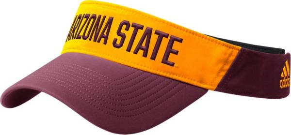 adidas Men's Arizona State Sun Devils Coach Thin Adjustable Black Visor product image