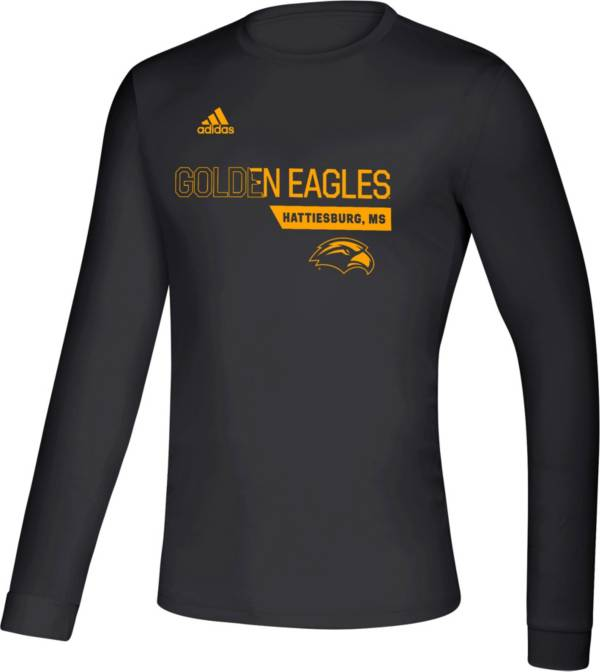 adidas Men's Southern Miss Golden Eagles Creator Long Sleeve Black T-Shirt product image