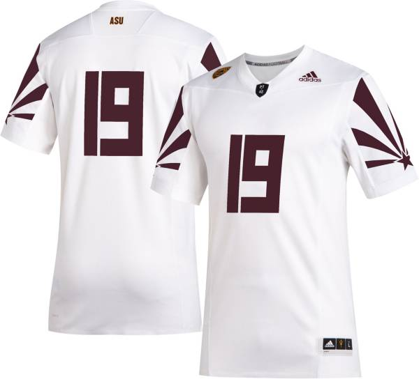 adidas Men's Arizona State Sun Devils #19 Sustainability Premier Strategy Football White Jersey product image