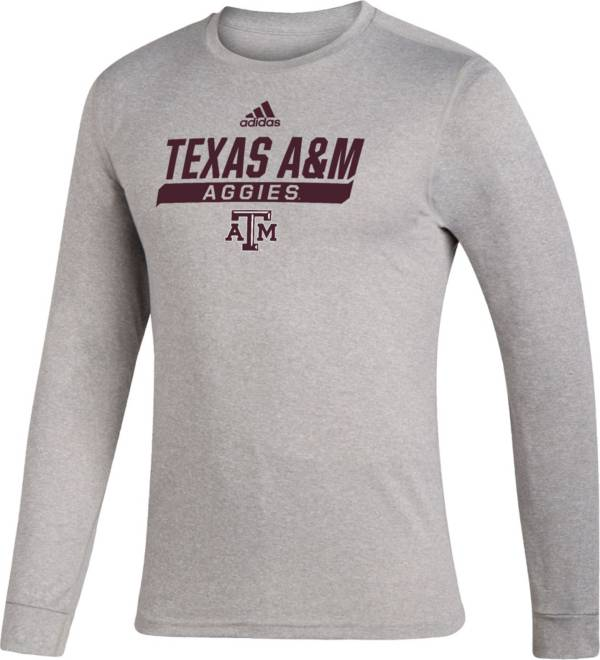 adidas Men's Texas A&M Aggies Grey Creator Performance Long Sleeve T-Shirt product image