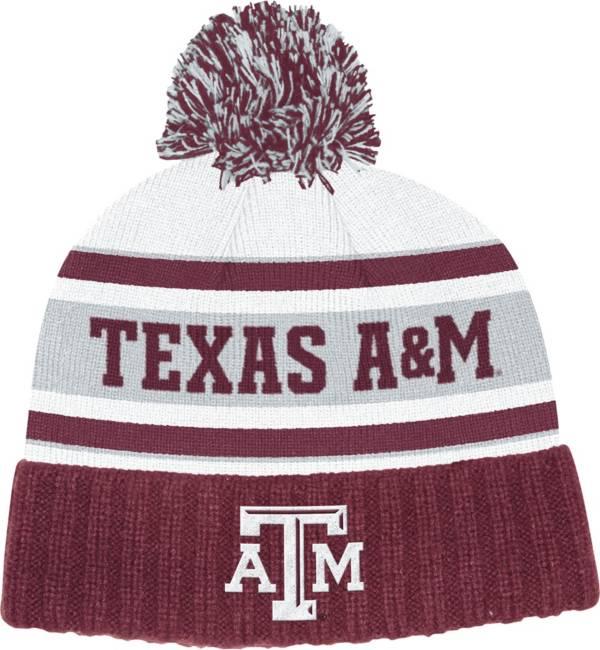 adidas Men's Texas A&M Aggies Maroon Cuffed Pom Knit Beanie product image