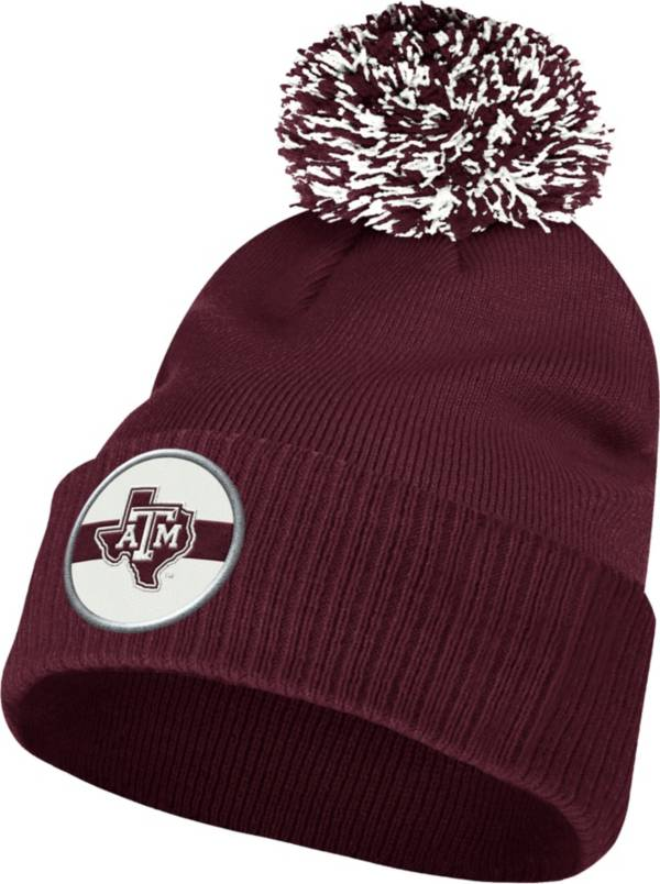 adidas Men's Texas A&M Aggies Maroon Cuffed Pom Knit Beanie product image