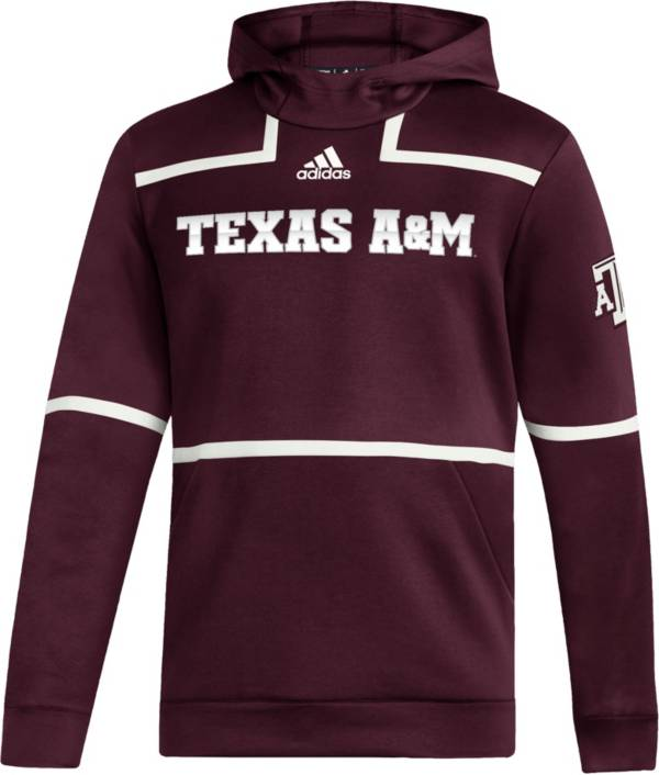adidas Men's Texas A&M Aggies Maroon Under The Lights Sideline Pullover Hoodie product image