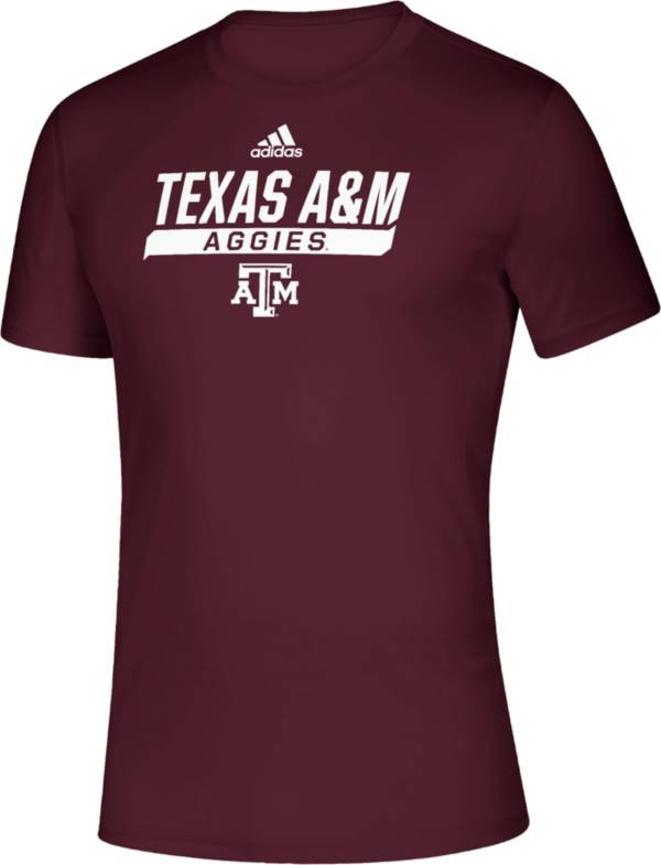 adidas Men's Texas A&M Aggies Maroon Tail Sweep Performance T-Shirt product image