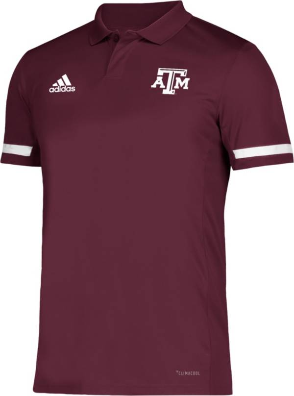 adidas Men's Texas A&M Aggies Maroon Team 19 Sideline Football Polo product image