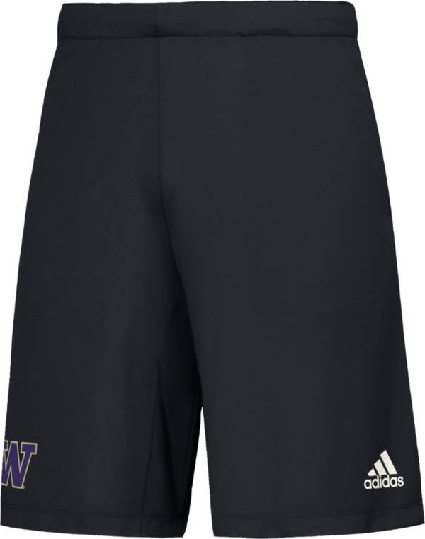 adidas Men's Washington Huskies Game Mode Woven Black Shorts product image