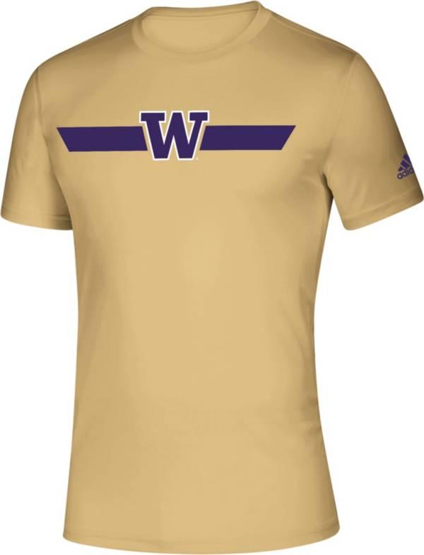 adidas Men's Washington Huskies Gold Locker Stripe Sideline T-Shirt product image